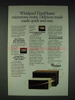 1984 Whirlpool TimeMaster Microwave Oven Ad