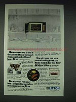 1983 Litton 1590 Microwave Oven Ad - In Restaurants