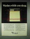 1980 Whirlpool Dishwasher Ad - While You Sleep