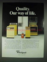 1979 Whirlpool Appliances Ad - Quality Our Way of Life