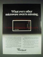 1978 Whirlpool Microwave Oven Ad - Other is Missing