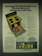1973 Hotpoint Model RE747 Triple Oven Ad - Microwave