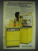 1969 KitchenAid Portable Dishwasher Ad - Golden Harvest
