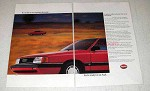 1987 Audi 5000S Car Ad - Run Against The Wind