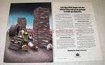 1989 Amoco Chemical Ad - Much Garbage Of Plastics