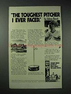 1978 Fonas Johnny Bench Batter Up Ad - Toughest Pitcher