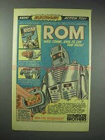 1979 Parker Brothers Rom The Spaceknight Action Toy Ad