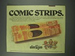 1979 Slim Jim Meat Snack Ad - Comic Strips
