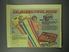1979 Leaf Mr. Freeze Pops Ad - Pool Float