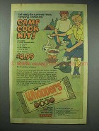 1980 Leaf Whoppers Candy Ad - Camp Cook Kit