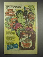 1984 Ralston Cookie-Crisp Cereal Ad - Incredible Hulk