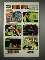 1984 Atari Mario Bros. Video Game Ad