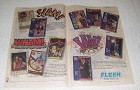 1991 Fleer NBA Basketball Series Cards Ad - Slam Wham