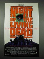 1990 Night of the Living Dead Movie Ad