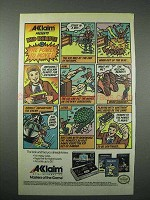 1989 acclaim Remote Controller, Airwolf Video Game Ad