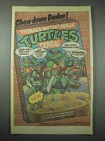 1989 Ralston Teenage Mutant Ninja Turtles Cereal Ad