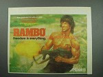 1988 Acclaim Rambo Nintendo Video Game Ad - Freedom