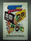 1987 M&M's Candy Characters Ad - Playing Sports