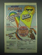1987 Leaf Rain-Blo, Super Bubble Gum Ad - Fly High
