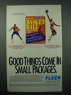 1992 Fleer Basketball Card Ad: Wilkins, Dikembe Mutombo