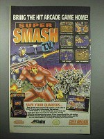 1992 Acclaim Super Smash TV Video Game Ad - Super NES