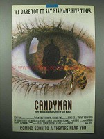 1992 Candyman Movie Ad - Dare Say His Name Five Times