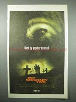 1992 Pet Sematary Two Movie Ad - Back By Popular Demand