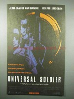 1992 Universal Soldier Movie Ad - Jean-Claude Van Damme