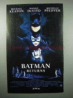 1992 Batman Returns Movie Ad - Michelle Pfeiffer