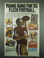 1993 Fleer Football Cards Ad - Steve Young