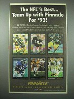 1993 Pinnacle Football Cards Ad - The NFL's Best
