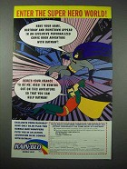 1994 Rain-Blo Bubble Gum Ad - Batman, Robin