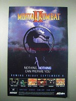 1994 Acclaim Mortal Kombat II Video Game Ad