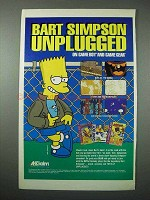 1994 Acclaim Bart Simpson Video Games Ad - Unplugged