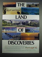 1990 Portugal Tourism Ad - The Land of Discoveries