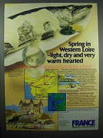 1980 France Tourism Ad - Spring in Western Loire