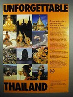 1980 Thailand Tourism Ad - Unforgettable