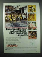 1977 Singapore Tourism Ad - Heart and Soul of Asia