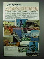 1967 Massachusetts Tourism Ad - Family Fun Vacations