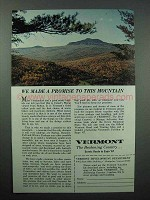 1967 Vermont Tourism Ad - Camel's Hump Mountain