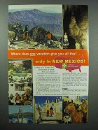 1964 New Mexico Tourism Ad - Give You All This