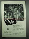 1964 Italy Tourism Ad - Rome Colonna Palace