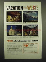 1962 Colorado, Montana, Utah, Wyoming Tourism Ad