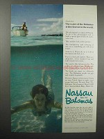 1962 Nassau and the Bahamas Tourism Ad - Clearest
