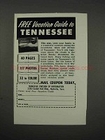 1961 Tennessee Tourism Ad - Vacation Guide