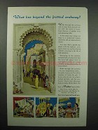 1961 India Tourism Ad - What Lies Beyond the Fretted Archway
