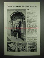 1961 India Tourism Ad - Beyond the Fretted Archway