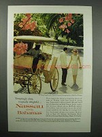 1961 Nassau and The Bahamas Tourism Ad - Delightful