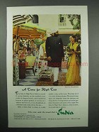 1960 India Tourism Ad - A Time for High Tea