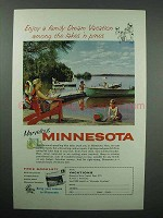 1959 Minnesota Tourism Ad - Among the Lakes 'n Pines